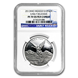Mexican Silver Libertads (Proof Versions) (NGC Certified)